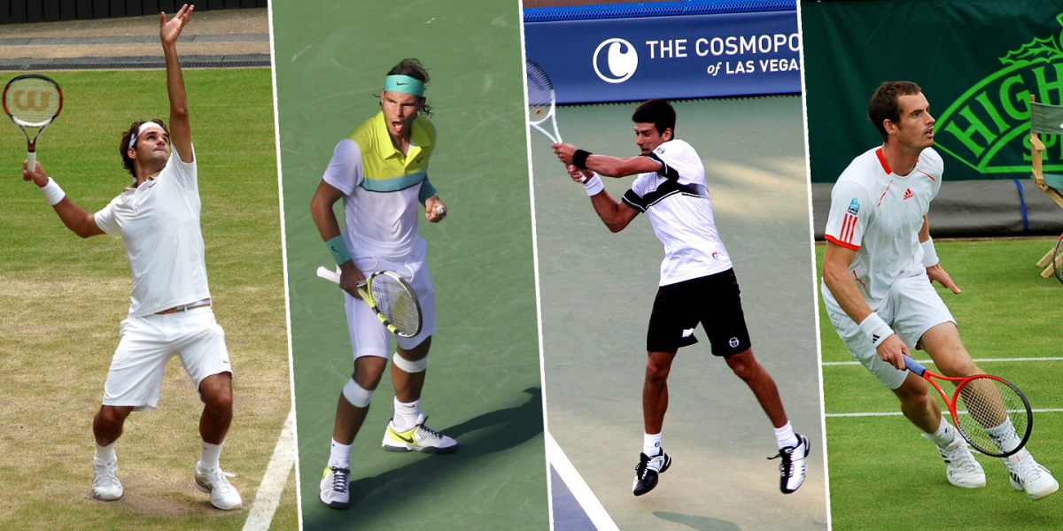 "The ""Big Four"" of men's singles tennis"