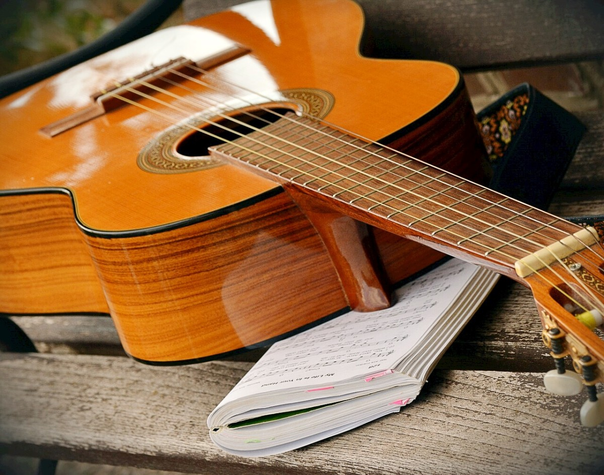 The guitar is a popular and useful instrument for accompanying folk songs.