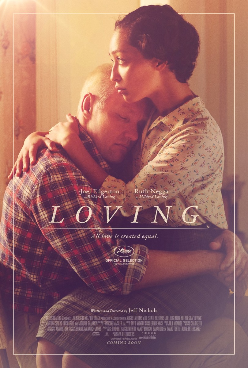 "The official one-sheet theatrical poster for ""Loving."""