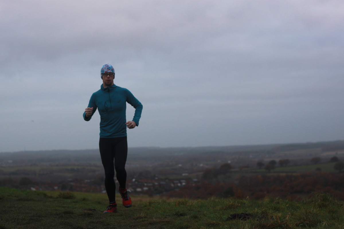 Testing the Sundried.com Roteck Running Tight on the Pit Tops of Bestwood Country Park in Nottinghamshire