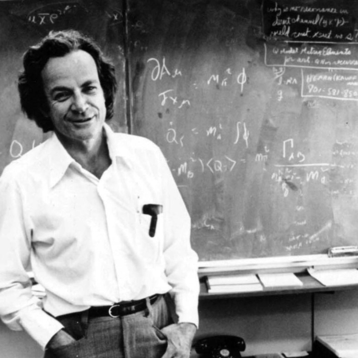 Richard Feynman, a theoretical physicist and a key contributor towards the start of quantum computing.