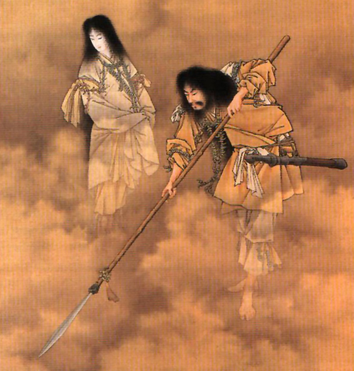 Izanagi and Izanami, the divine progenitor gods of Shintoism, during better times.