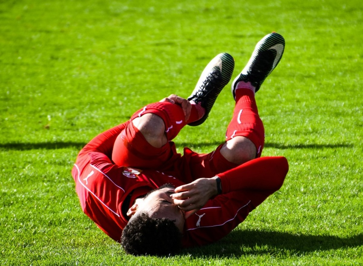 Leg muscle cramp causes agonising acute pain.
