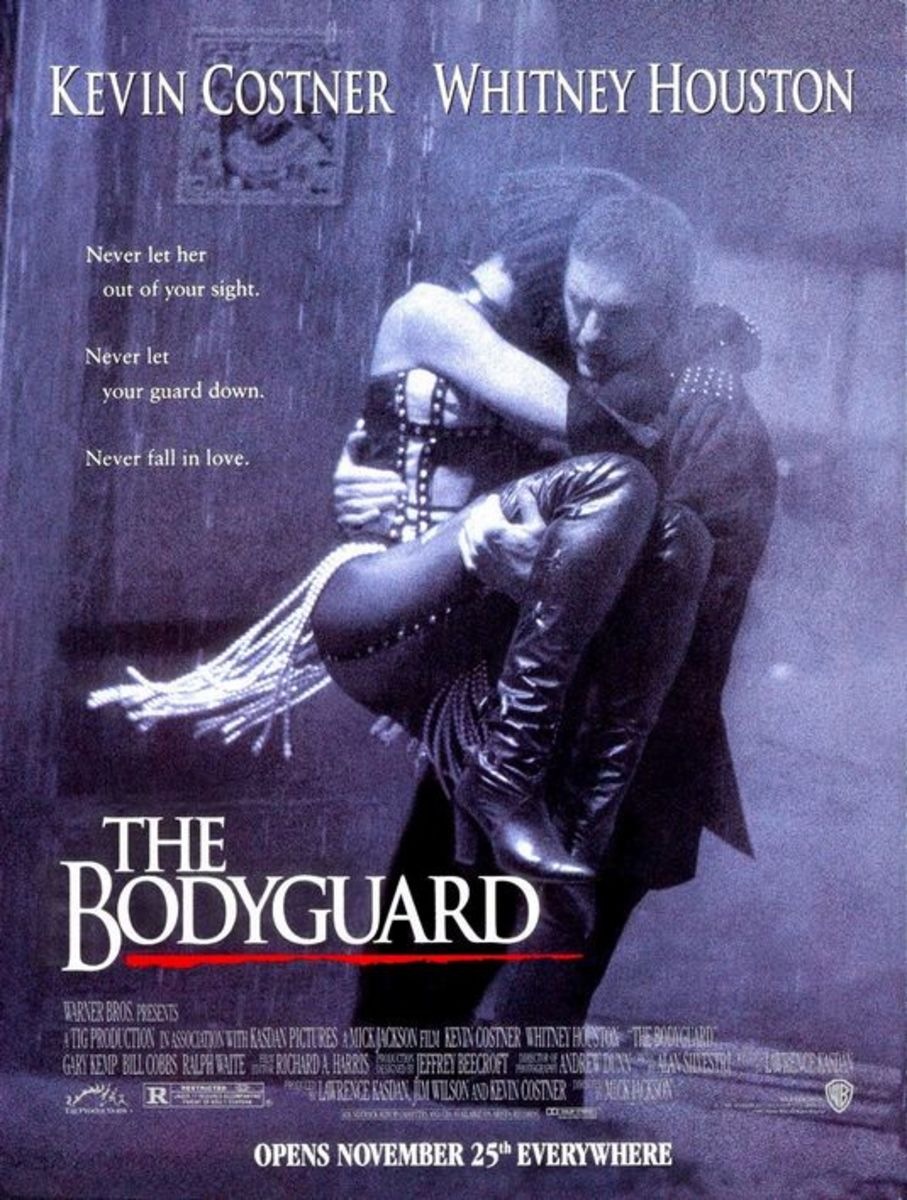 Theatrical poster for The Bodyguard. Property of Warner Bros Pictures.