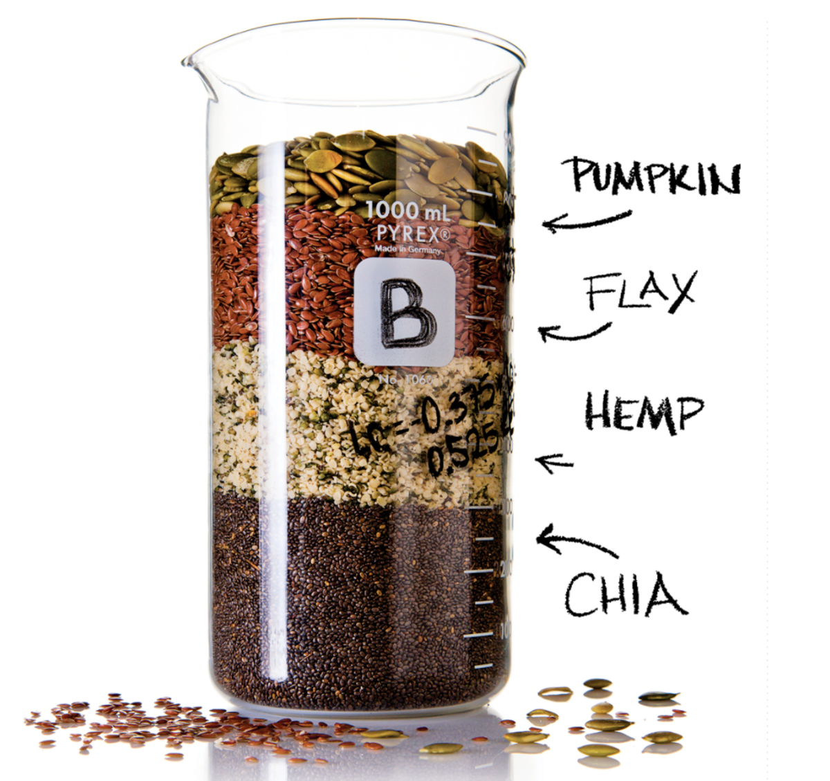 "Pumpkin seeds, flaxseeds, hemp seeds, and chia seeds are rich in omega-3 fatty acids.  Omega-3 fatty acids help to benefit our mood and keep us free of the ""special occasion blahs""."