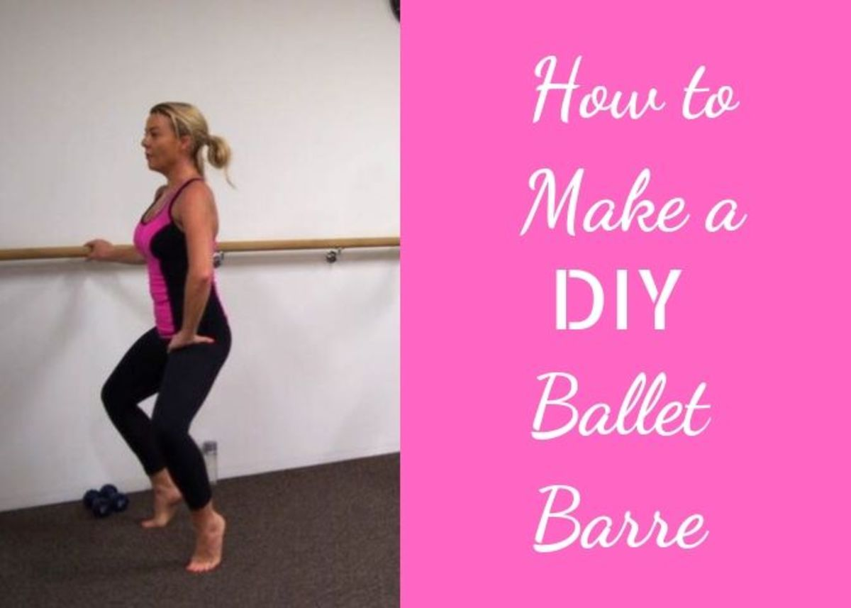 Using a barre doesn't have to be limited to the studio. You can easily make one to put inside your home.