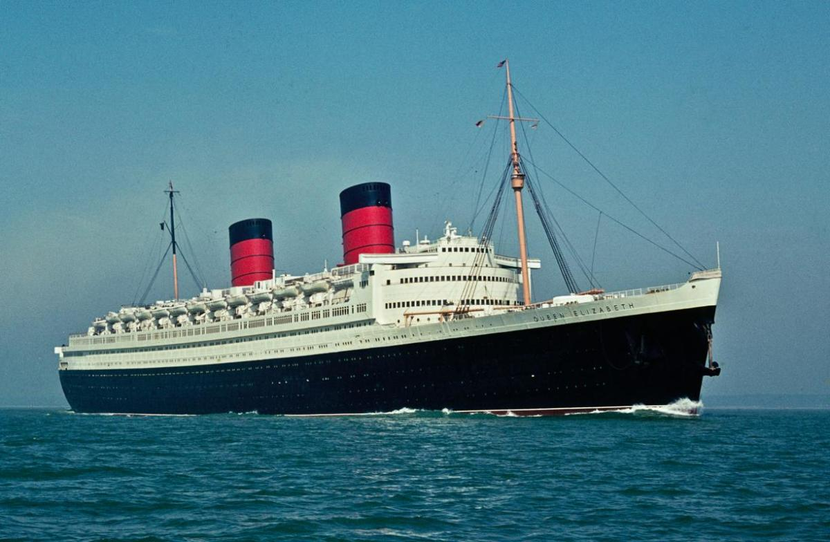 RMS Queen Elizabeth, flagship of the Cunard White Star Line.