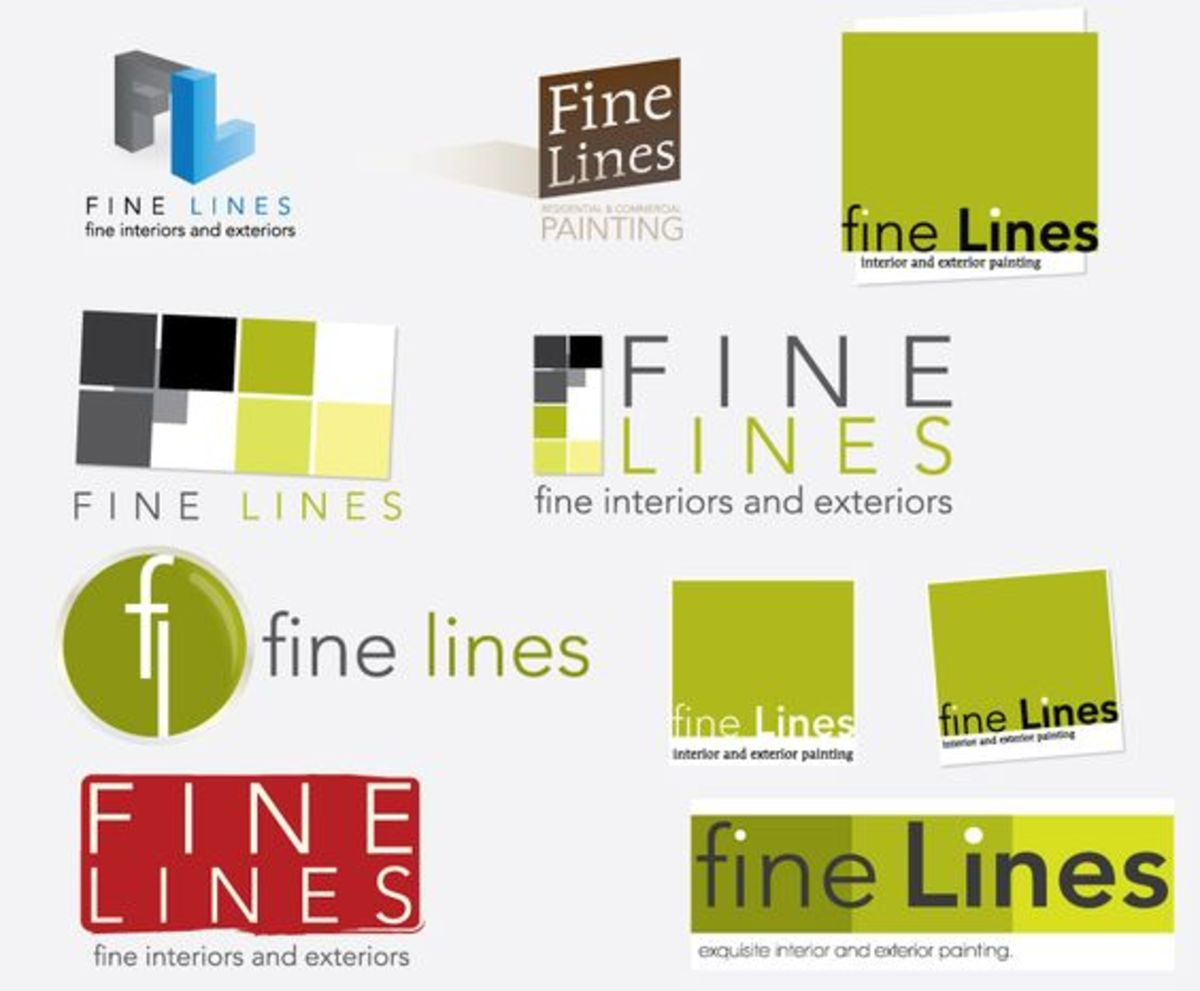 Logo designs for a painting company.