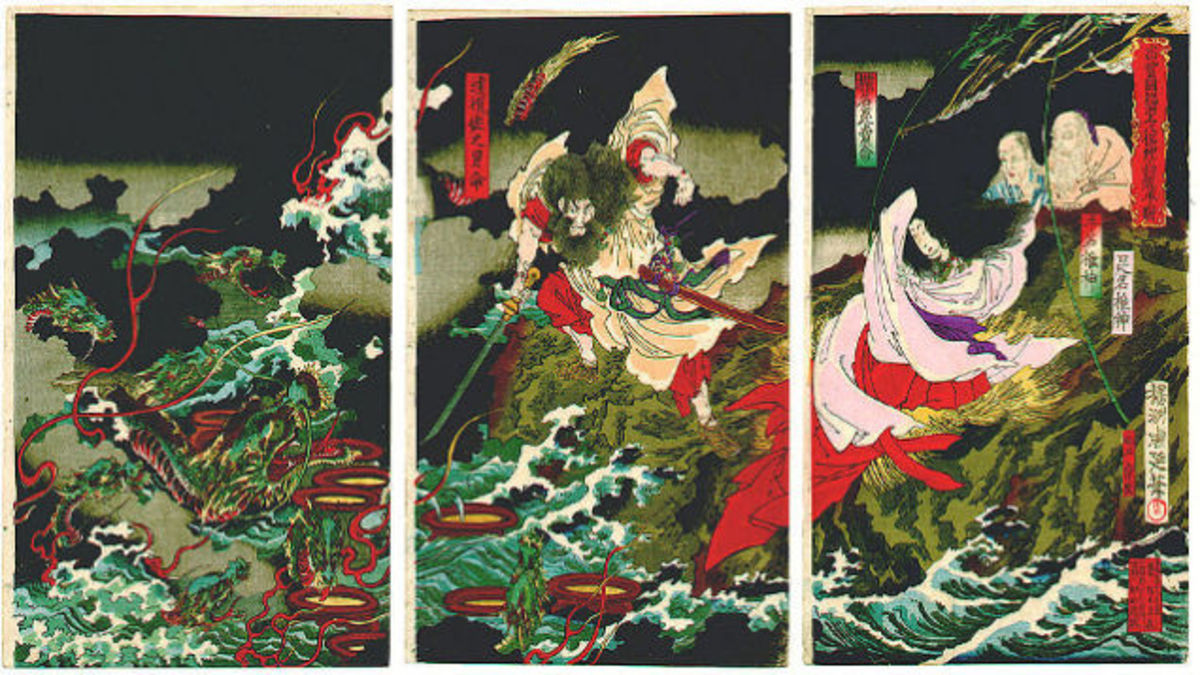 A Retelling of Shinto Myths 3: Susanoo and Orochi, The Eight-Headed Snake