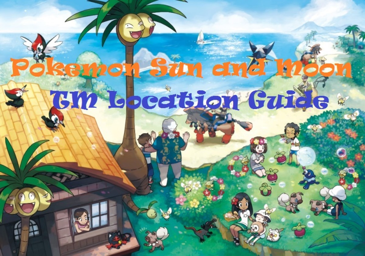 Pokemon Sun and Moon TM Location Guide