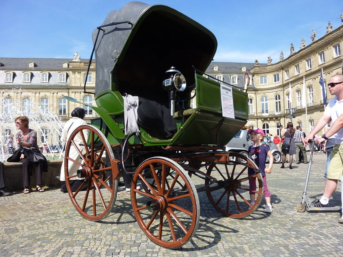 The first electric car:  Flocken Elektrowagen 1888