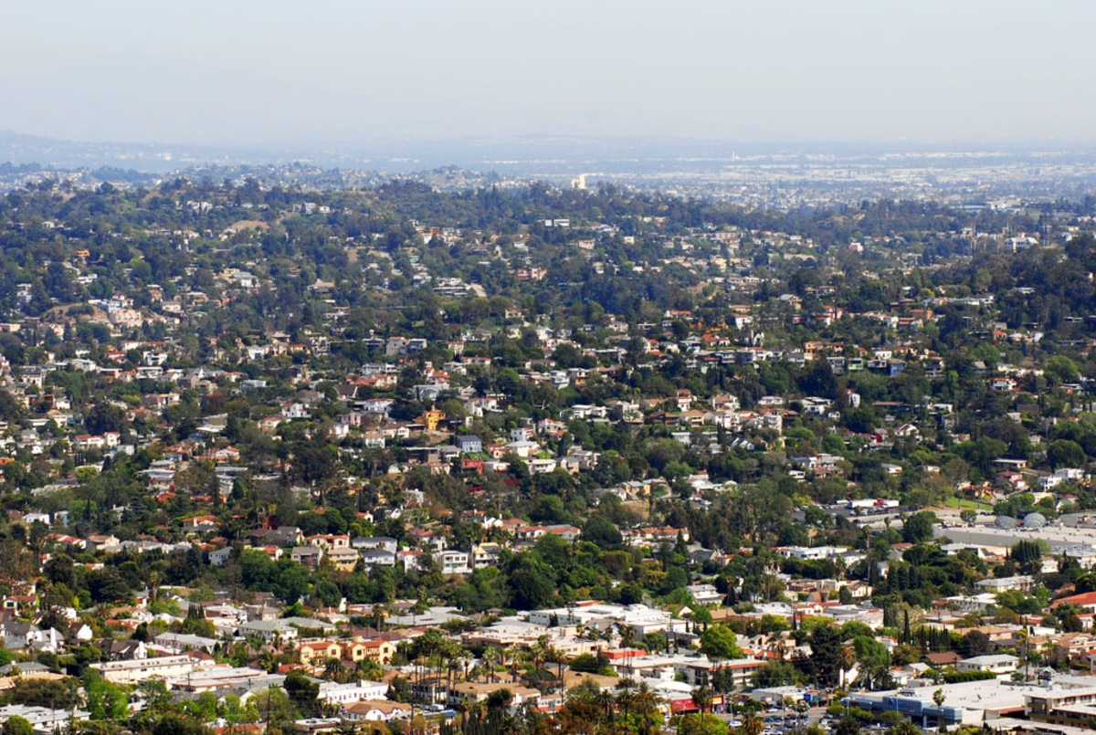 A beautiful view of Silverlake in Los Angeles