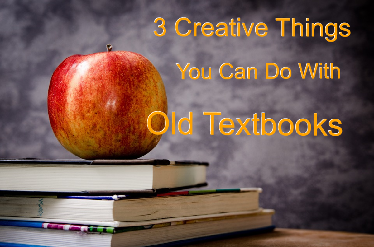 3 Creative Things You Can Do With Your Old Textbooks