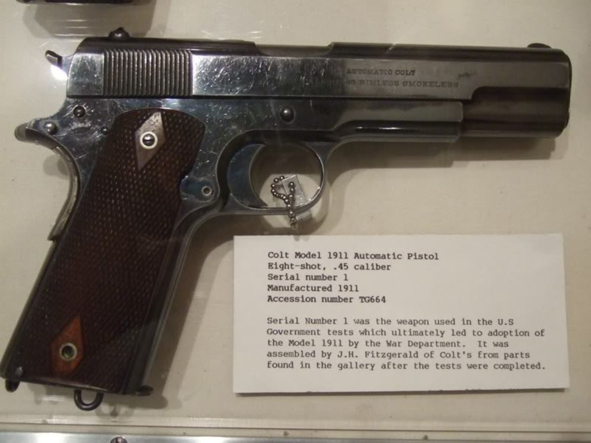 Serial number one. This is very possibly the pistol that went 6000 rounds without a single malfunction.