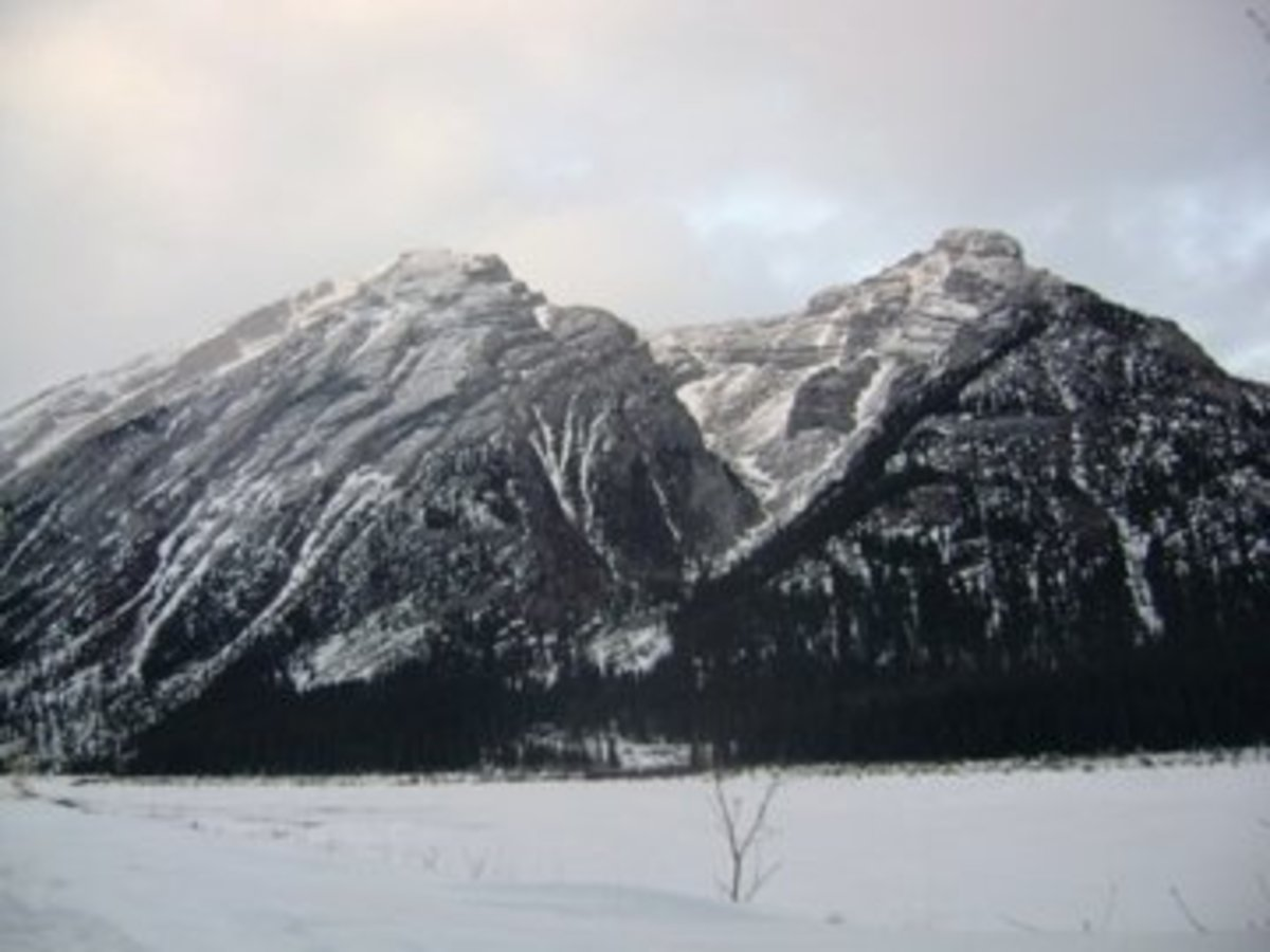 Beautiful Mountains in Canmore Albreta