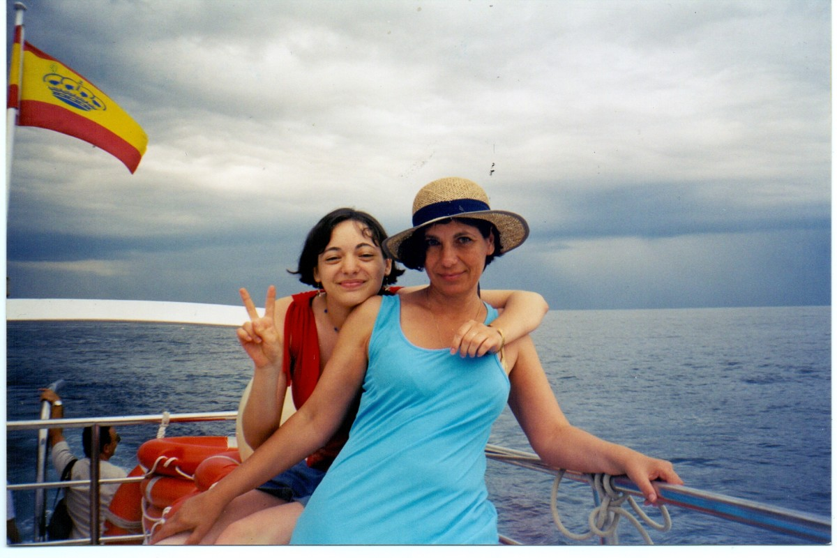 That's me, well on my way to fat-land in 2003, somewhere on the Costa Del Sol in Spain. That's my daughter with me! I was 52.