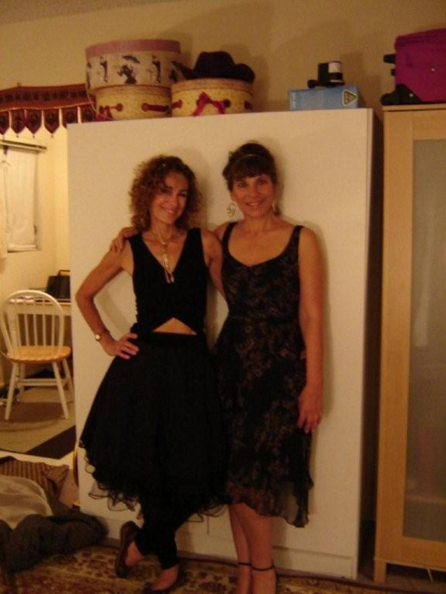 My sister and me, 55 and 57 years of age. San Diego. California.