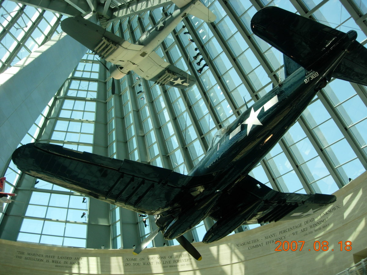 Two Corsairs at the Marine Corps Museum, Quantico, Virginia.