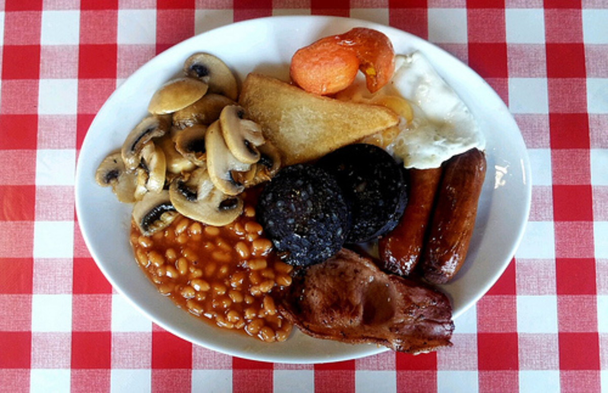 The full English breakfast.