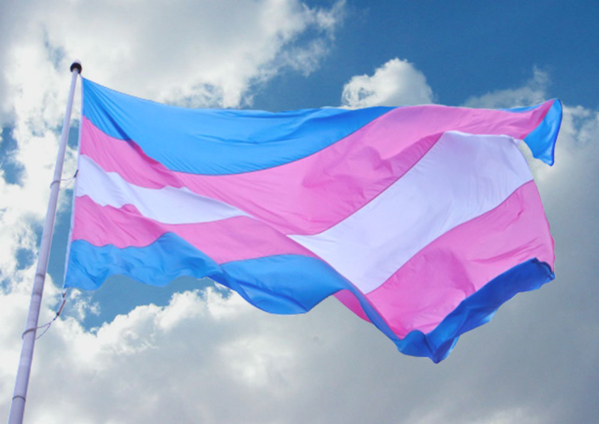 Like many pride flags, the transgender pride flag can be bought and hung in various sizes