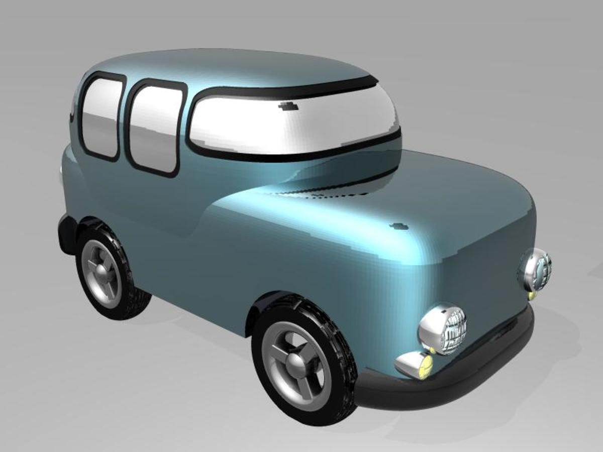 Possible solar-powered car of the future