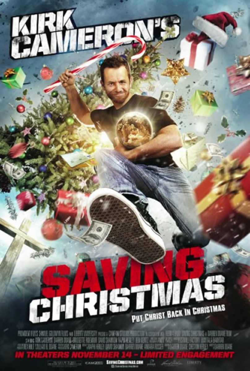 Theatrical poster for Saving Christmas. Property of CamFam Studios and Liberty University (apparently).