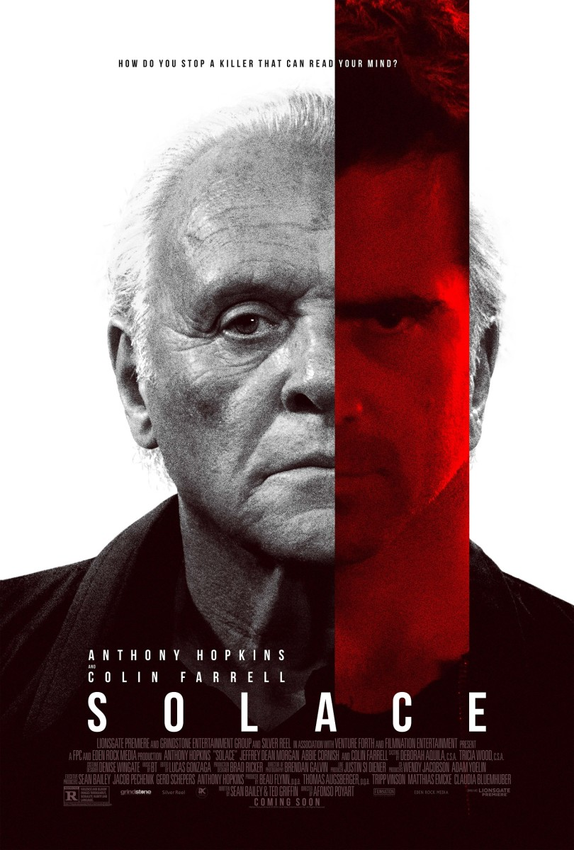 "The official one-sheet theatrical poster for ""Solace."""