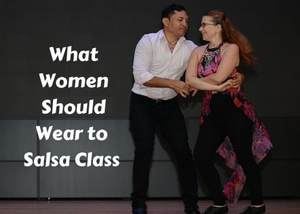 When dancing salsa, it's important to wear something that's comfortable and easy to move in.