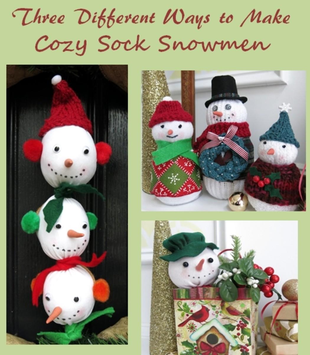 Diy Craft Tutorial Three Different Ways To Make Sock