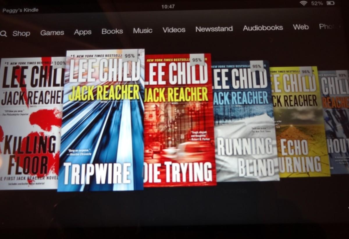 Jack Reacher eBooks on my Kindle
