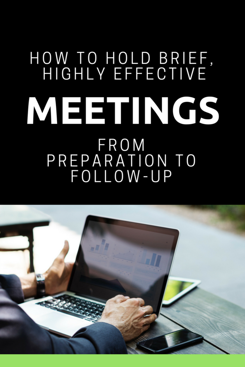 How to Hold Brief, Highly Effective Meetings
