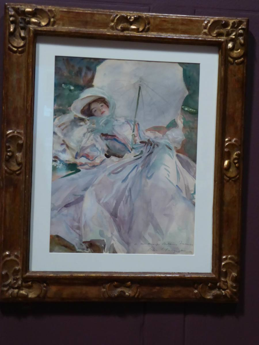 """The Lady with the Umbrella"" depicts Sargent's niece Rose-Marie Ormond. Copyright image by Frances Spiegel with permission from Dulwich Picture Gallery. All rights reserved."