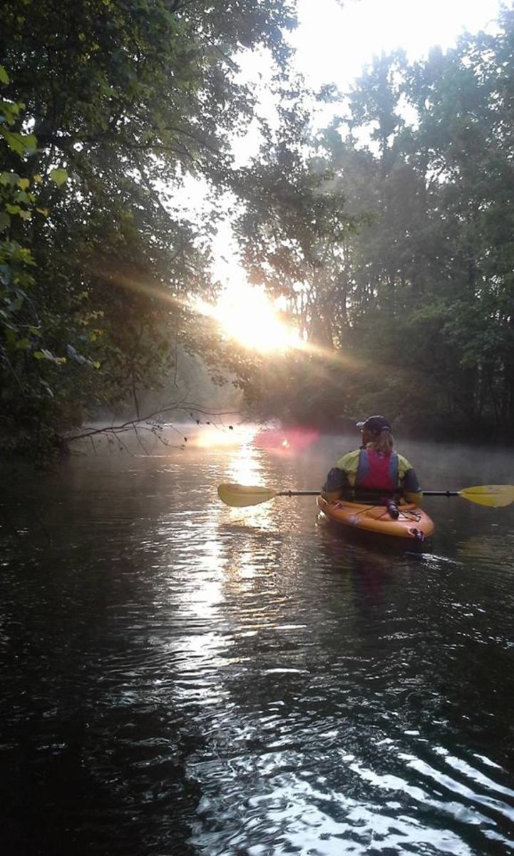 Personal photo of Author #kayaking
