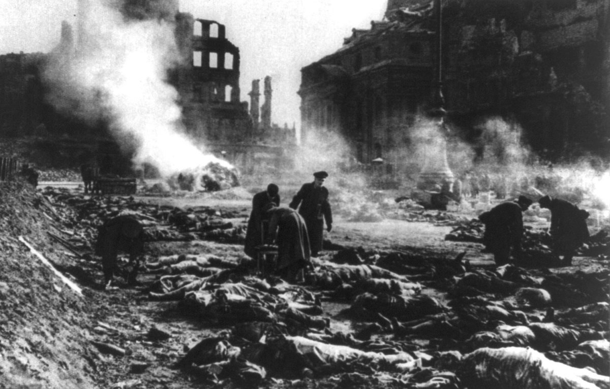 Aftermath of Dresden Bombing