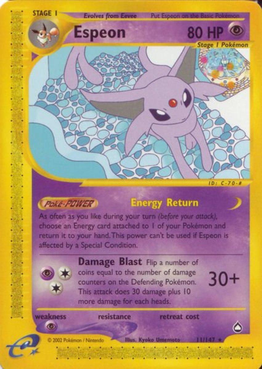 Top 6 Pokemon Cards: Aquapolis Expansion