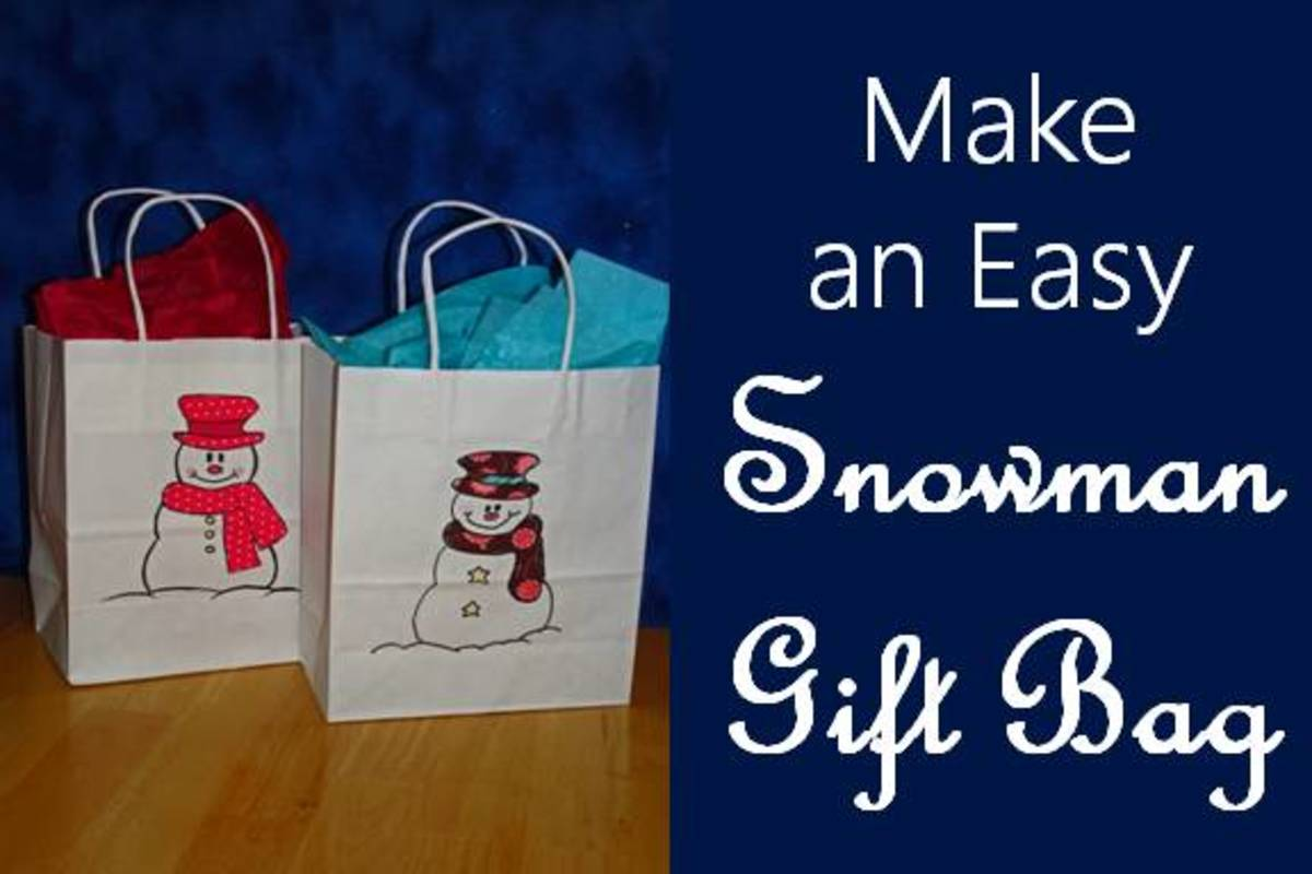How to Make an Easy Snowman Gift Bag