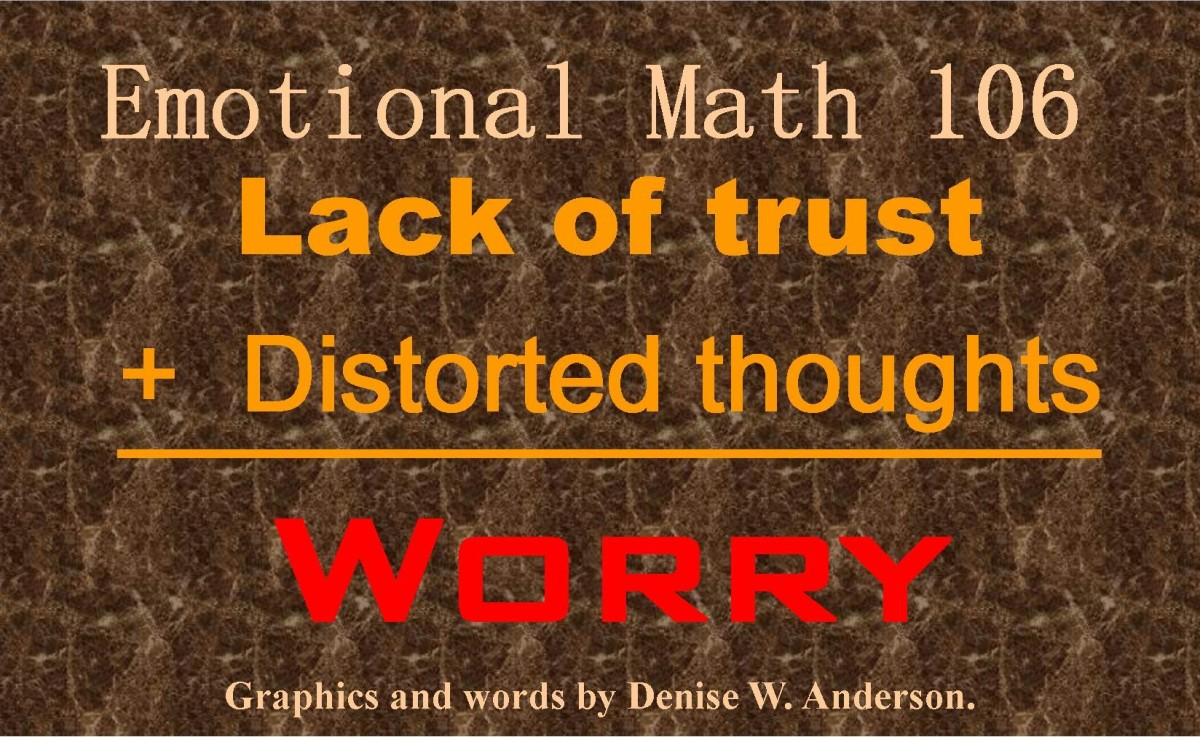 Worry is the automatic result of our lack of trust and the distorted thought patterns we use to cover it up.