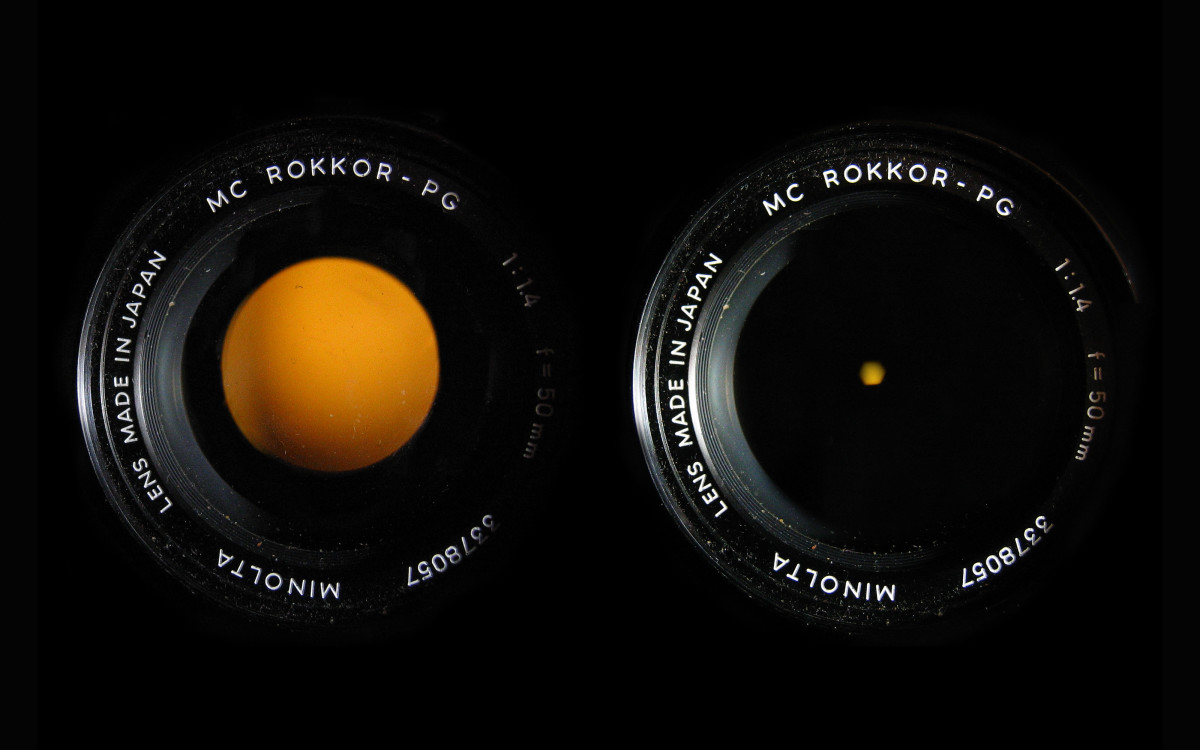 The size of your aperture affects how much light is let onto the camera`s sensor