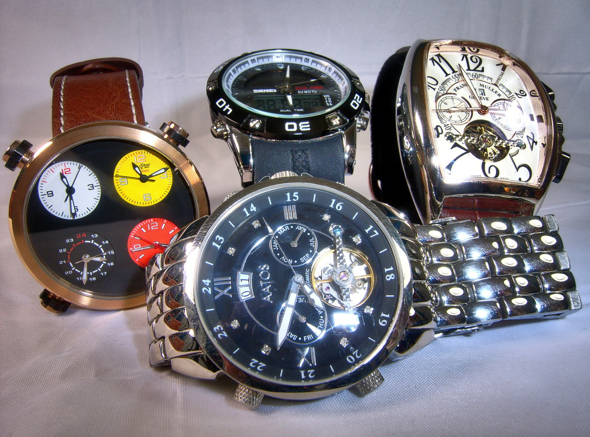 This group includes an Aatos, Parnis, Skmei and a Franck Muller replica
