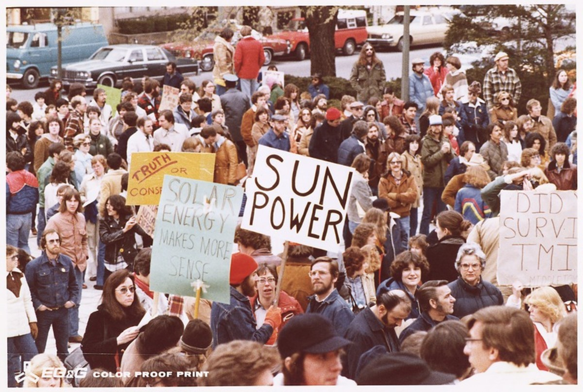 Anti-nuke rally in Harrisburg (Pennsylvania) at the Capitol.