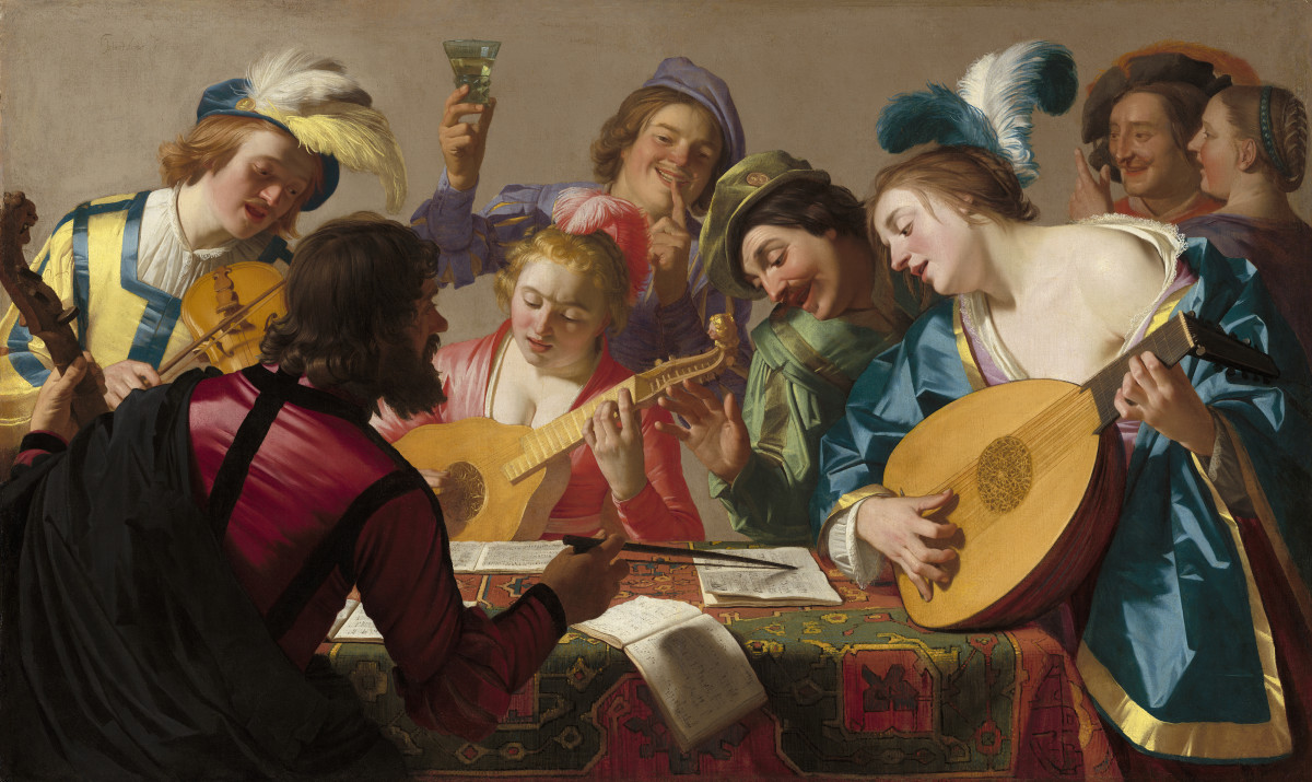 Painting entitled 'The Concert'