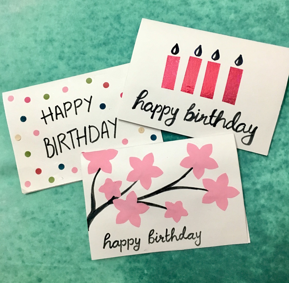 3 Easy, 5-Minute, DIY Birthday Greeting Cards