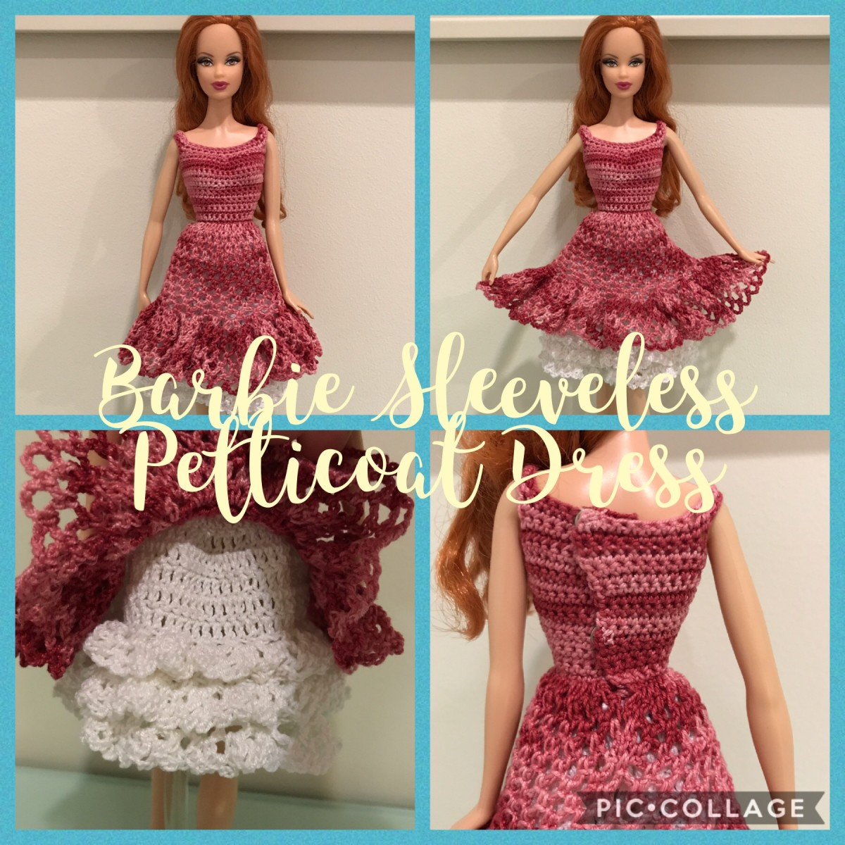Barbie Sleeveless Petticoat Dress (Free Crochet Pattern)