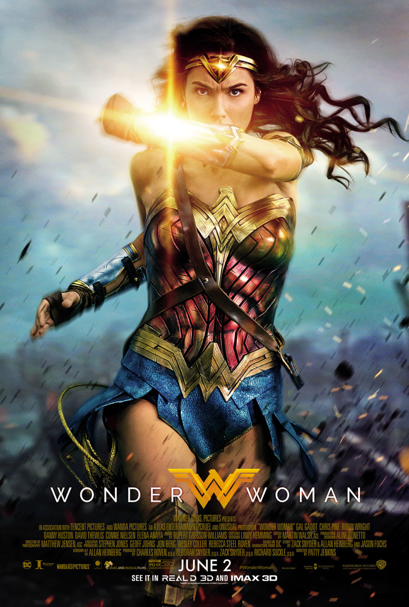"One of many theatrical posters for ""Wonder Woman."""