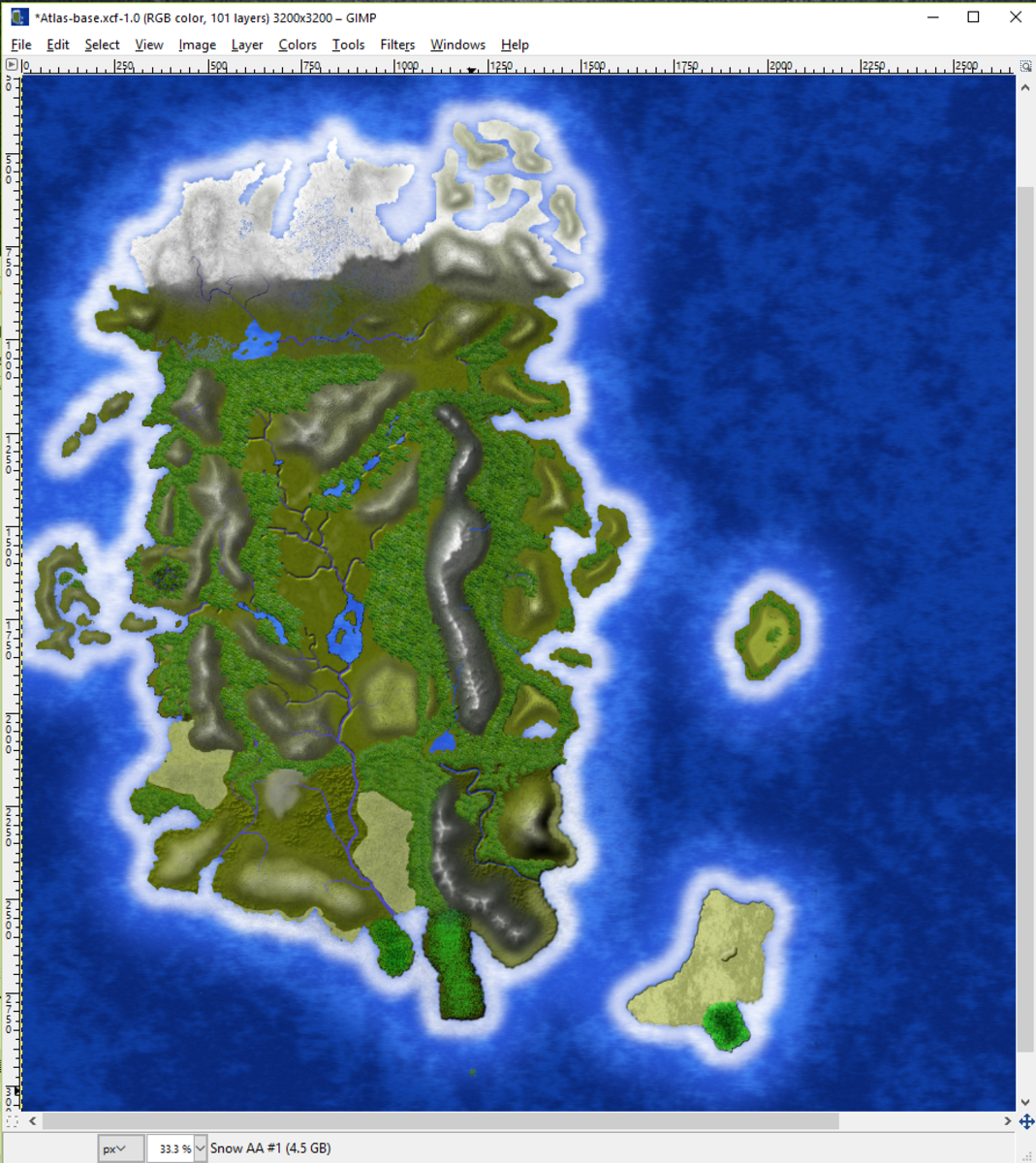 Creating Fantasy Maps With GIMP: Worldbuilding—The Texture Map
