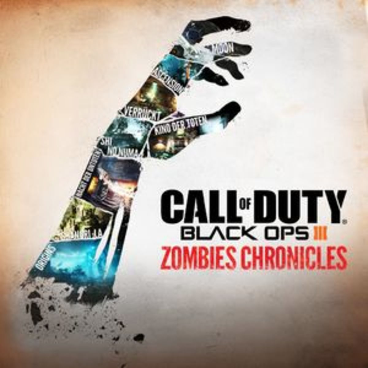 The release poster for Call of Duty: Black Ops III Zombies Chronicles