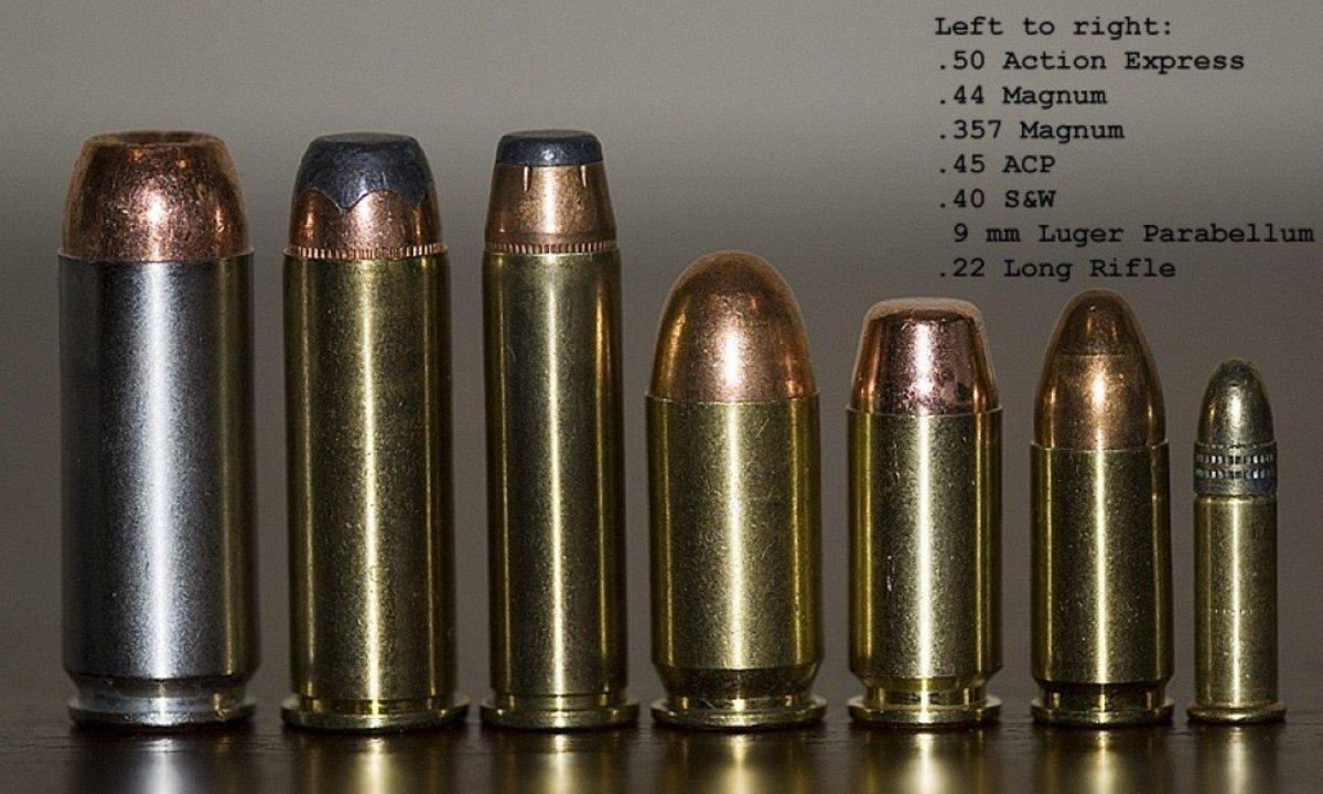 Various Semiautomatic Handgun Cartridges