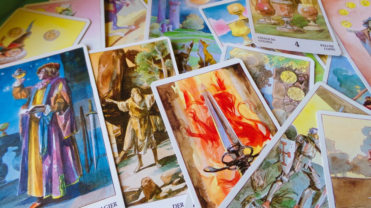 How to use tarot cards in spells and rituals.