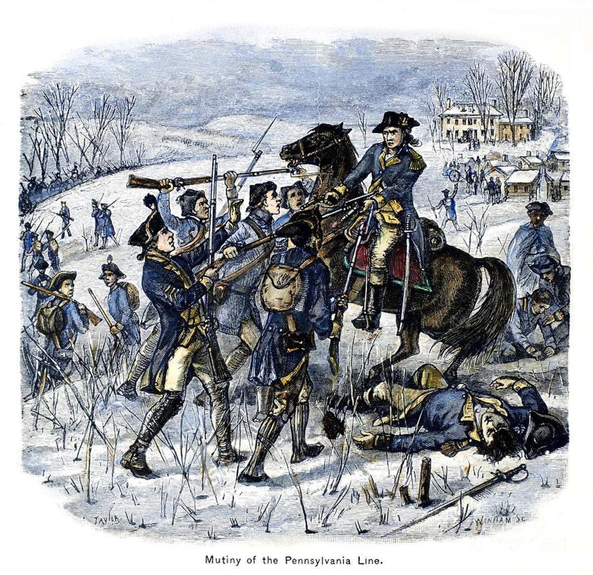 In 1783 dissatisfied Pennsylvania veterans, demanding back pay, forced members of the Continental Congress to flee Philadelphia to Princeton, New Jersey