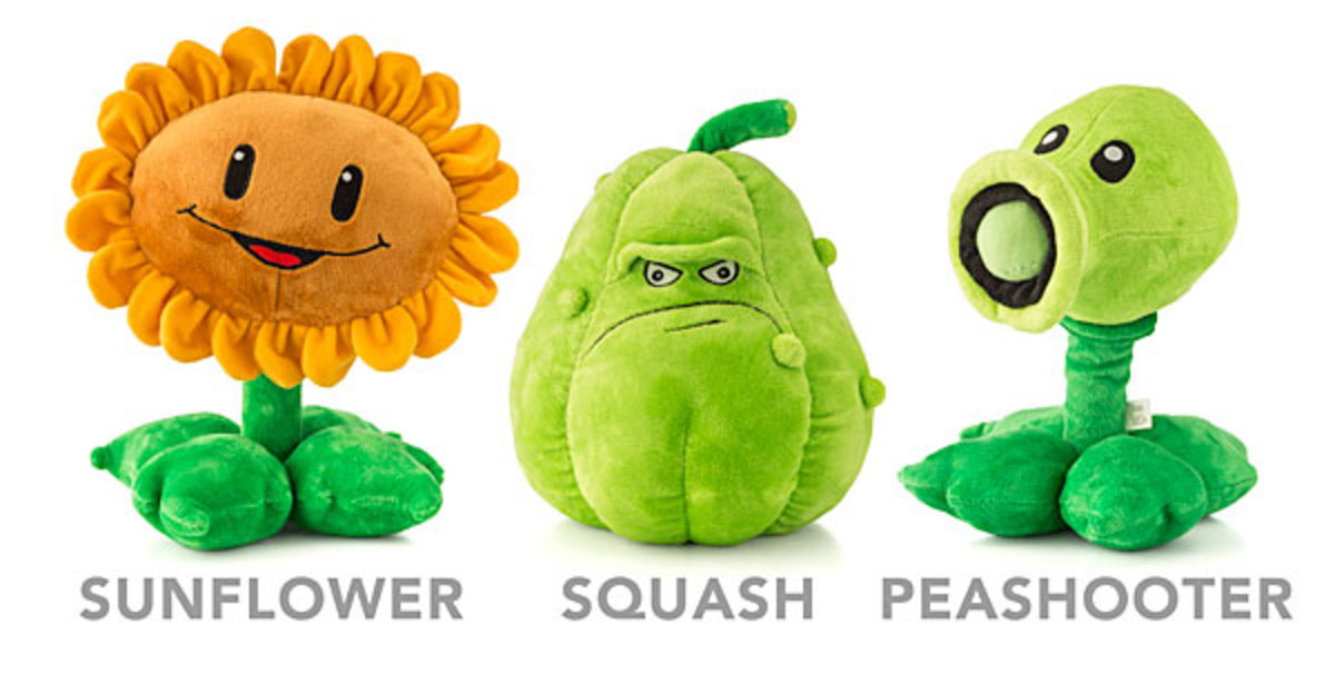 Various plant plushes